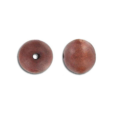 Wood bead, round, brown, 12mm, 16 inch strand