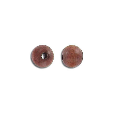 Wood bead, round, brown, 8mm, 16 inch strand