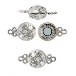 Magnetic clasp crystal/nickel lead/cad-safe