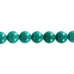 Fossil bead, 32 strand, turquoise, 6mm