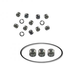 Crimp connector bead 2mm  black nickel plated