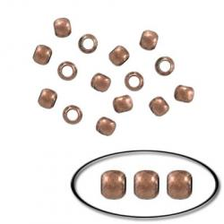 Crimp bead 3mm antique copper
