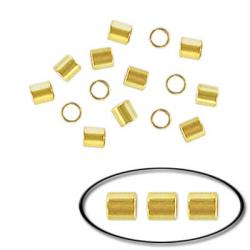Crimp tube bead gold plated