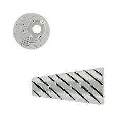 Cord end, zinc, 23x12mm, antique silver