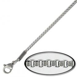 Box chain, stainless steel, 1.5mm, 20 inch length