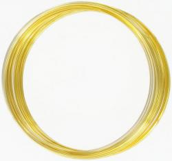Memory wire, 1/2 oz, large, gold plate