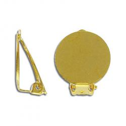 Ear clip 18mm gold plated