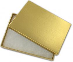 Jewelry gift box. Gold. 13.5x9.5x2.5cm (5.5x3.75x1)
