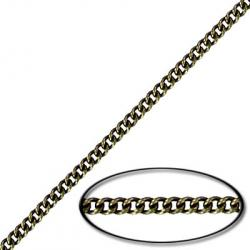 Chain curb link (2mm wide) 200 metres antique brass