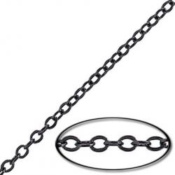 Soldered chain cable link (3.5mm wide) 20 metres black nickel plate