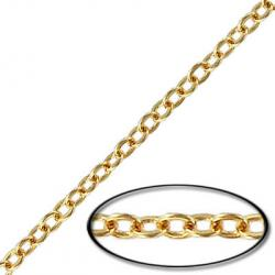 Soldered chain cable link (3.5mm wide) 20 metres gold plate