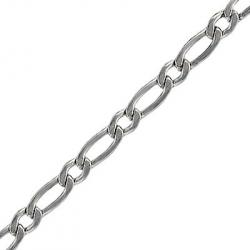 Chain curb link (5mm wide) 5 metres stainless steel
