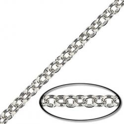 Chain rolo link (3.5mm) 20 metres silver plate