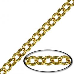 Chain rolo link (4.5mm) 10 metres gold plate