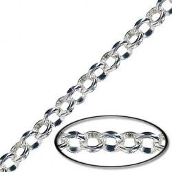 Chain rolo link (4.5mm) 10 metres silver plate