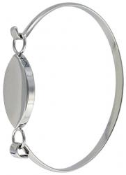 Bracelet 7x5.5cm (2.5x2) nickel plate with flat oval