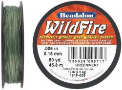 Beading thread thermally bonded .006 inch(0.15mm) 50 yards (45.8 meters) green