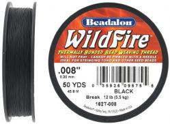 Beading thread thermally bonded .008 inch (0.20mm) 50 yards (45.8 meters), black