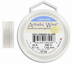 Wire 18 gauge 6.1 meters (20 ft) silver
