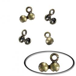 Bead tip antique brass