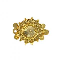 Fancy clasp 1 row 21x17mm (round setting 7 - 8mm) gold plate
