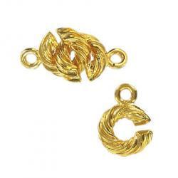 Toggle clasp (circle 14x10mm) gold plate