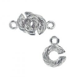 Toggle clasp (circle 14x10mm) nickel plate