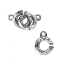 Toggle clasp (circle 13x10mm) nickel plate