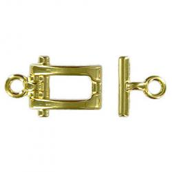 Toggle clasp fancy (circle 19x12mm) gold plate nkf
