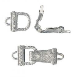 Magnetic clasp silver plate