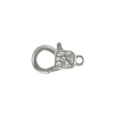 Lobster clasp fancy 15x9mm nickel plate nickel free ...