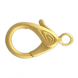 Lobster clasp 32x18mm matt gold plate
