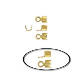 Small crimp connector gold plated