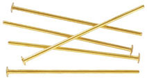 Headpin 16mm (1/2) 0.5mm diameter 24 gauge gold plate pack of 500 pieces nkf
