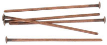 Headpin 16mm (1/2) 0.5mm diameter 24 gauge antique copper plate pack of 500 pieces nkf