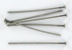 Headpin 25mm (1) 0.7mm diameter 21 gauge antique silver plate pack of 500 pieces nkf