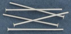 Headpin 25mm (1) 0.7mm diameter 21 gauge silver plate pack of 500 pieces nkf