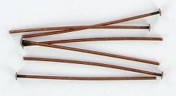 Headpin 38mm (1.5) 0.7mm diameter 21 gauge antique copper plate pack of 500 pieces nkf