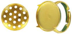 Finger ring expandable with 14mm screen size 5.5 to 8 gold plate