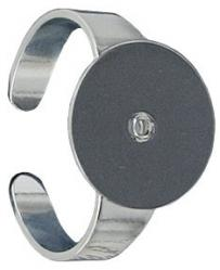 Finger ring expandable with 14mm pad nickel plate