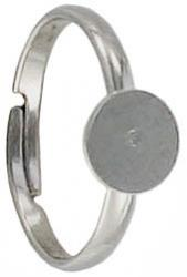 Finger ring expandable, with 7mm pad, nickel