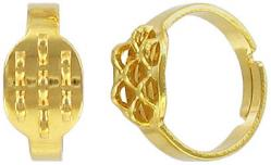 Finger ring expandable, beadable, 7-row gold plate