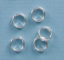 Split ring 5mm outside diameter steel silver plate