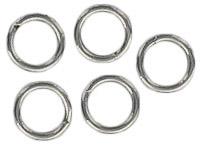 Split ring 5mm outside diameter steel nickel plate