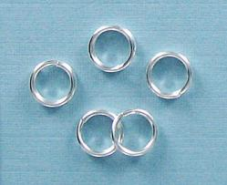 Split ring 6mm outside diameter silver plate