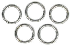 Split ring 6mm outside diameter steel nickel plate