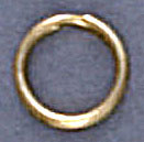 Split ring 9mm outside diameter tempered steel gold plate