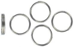 Split ring 9mm outside diameter tempered steel nickel plate