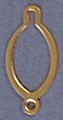 Button eye 10x20mm gold plate