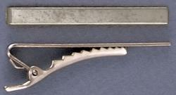 Tie clip alligator 50x5mm (2 x 1/4) nickel plate